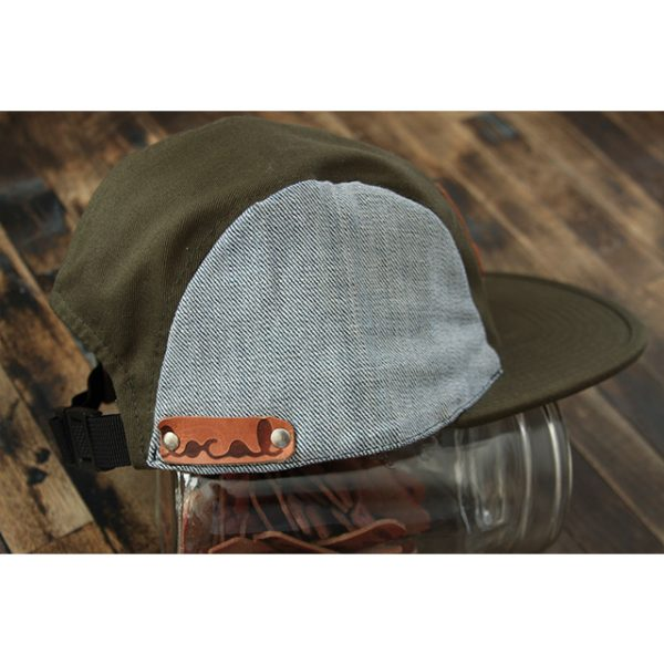 Reverse Denim 5-Panel Strapback