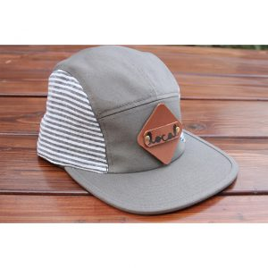 Charcoal Seersucker 5-Panel Strapback