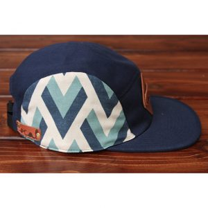 Blue 'V' Canvas 5-Panel Strapback