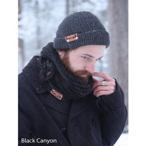 Cozy Scarf Local Knits Black Canyon