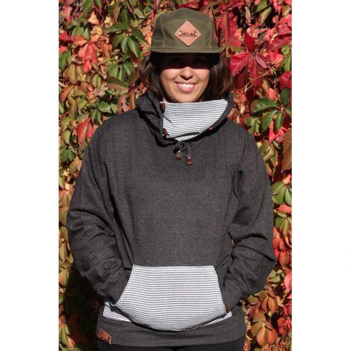 Charcoal Seersucker Ninja Hoodie