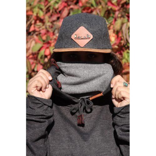 Gray Herringbone Ninja Hoodie