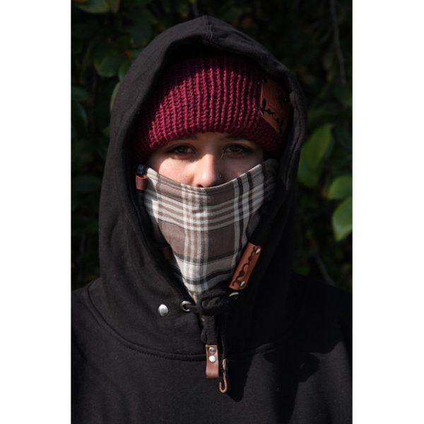 Smokey Gray Flannel Ninja Hoodie