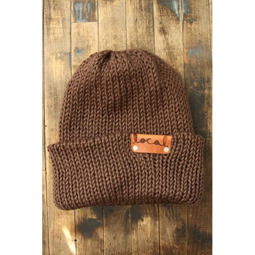 Light Chocolate Brown Beanie
