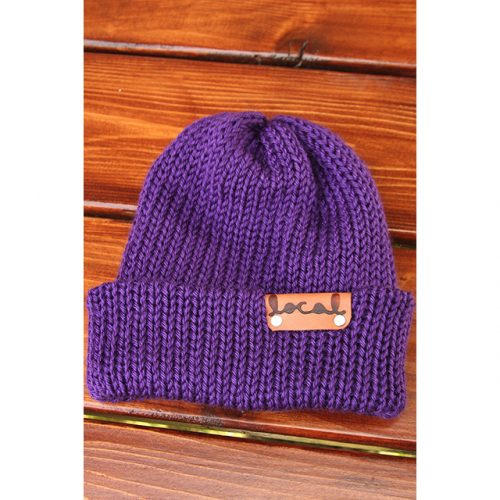 Royal Purple Beanie by Local Knits