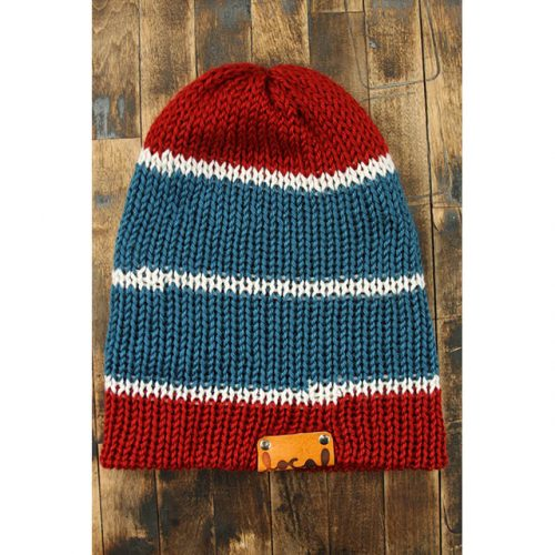 Autumn Red Stripe Beanie