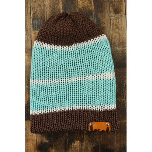 Light Chocolate Stripe Beanie