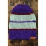 True Purple Stripe Beanie