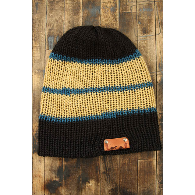 Black Stripe Beanie - Local Knits 92c69c7e9a5