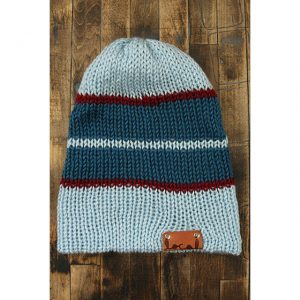 Soft Blue Stripe Beanie
