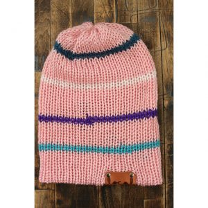 Soft Pink Thin Stripe Beanie
