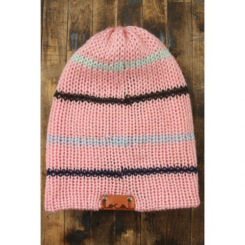 Soft Pink Thin Stripe Beanie