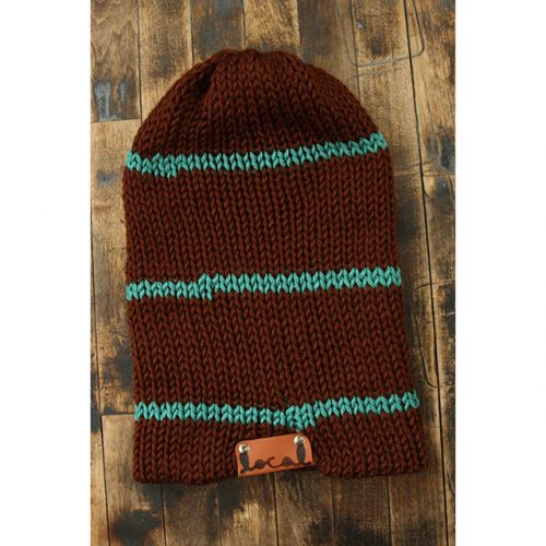 Chocolate Thin Stripe Beanie