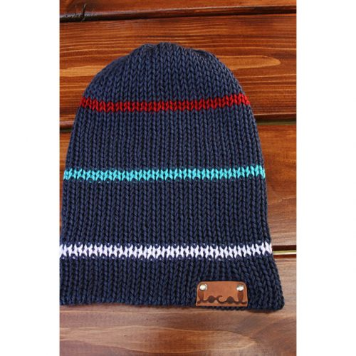 Navy with a Chance of Red Beanie