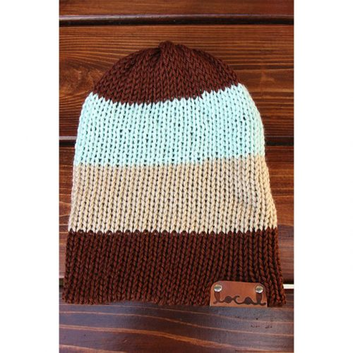 Mint Chocolate 4 Stripe Beanie