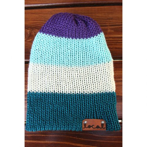 Cool Mountain 4 Stripe Beanie