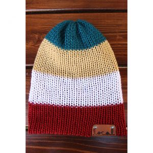 Autumn Harvest 4 Stripe Beanie