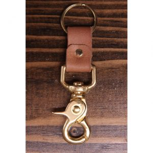 Natural Oil Leather Solid Brass Key Collector