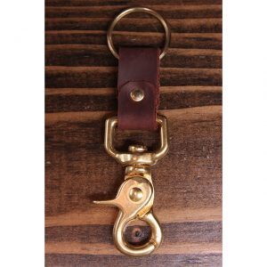 Latigo Leather Solid Brass Key Collector