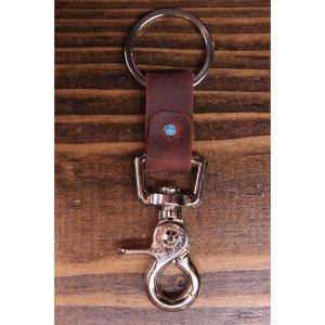 Latigo Leather Nickel Key Collector