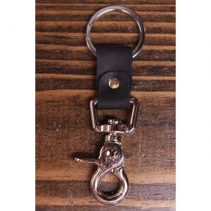 Black Leather Nickel Key Collector