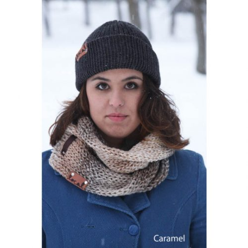 Tweed Scarf Caramel