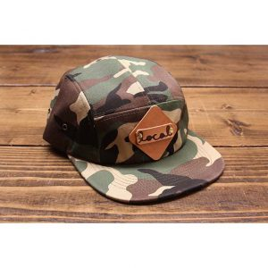 Local Knits Camo Wax Canvas Camper Strapback