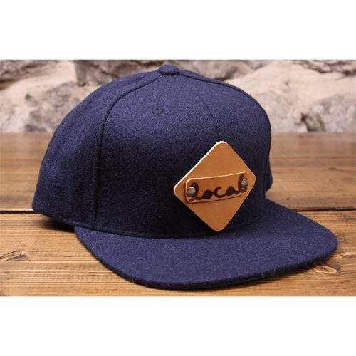 navy woolie snapback front